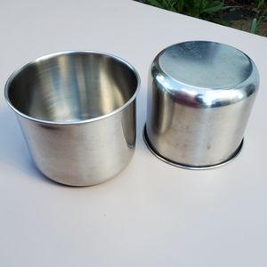 🦜2 Stainless Steel Pet Bird Bowls w/ Brackets
